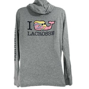 Vineyard Vines T-Shirt Hooded Lacrosse Whale Small